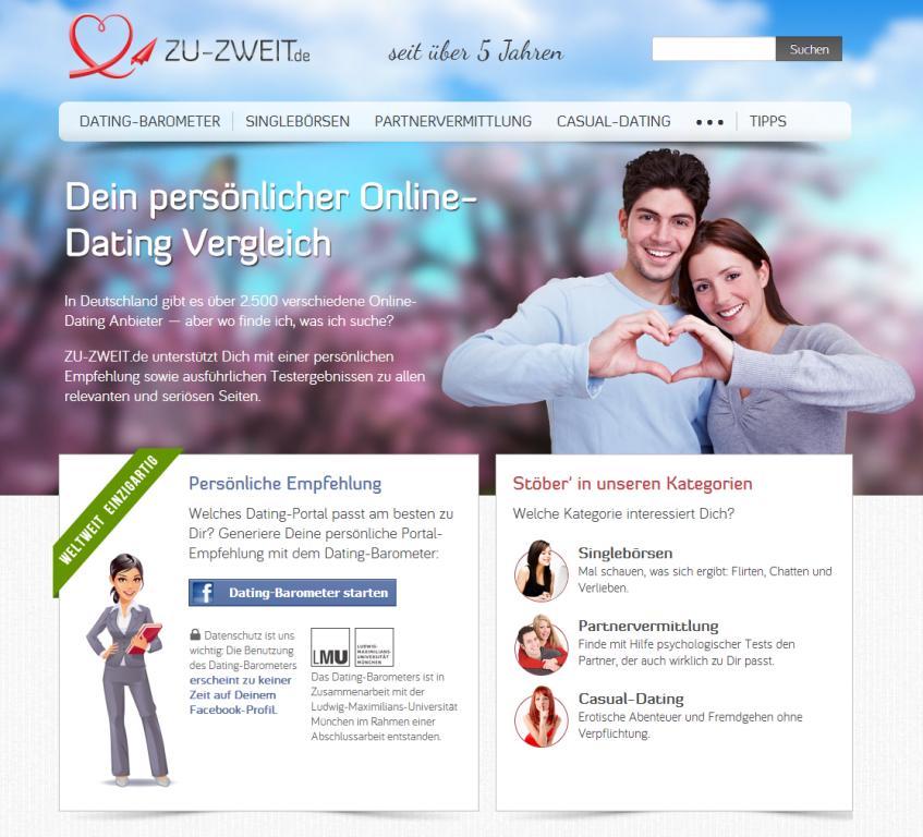 Algorithmen von Online-Dating-Seite